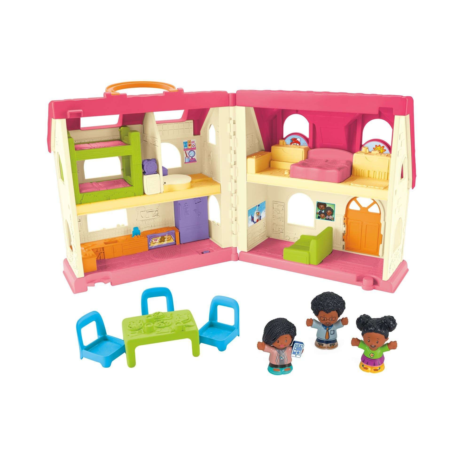 Fisher Price Little People Surprise Sounds Home African American Family