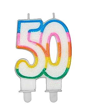 Coolp - Velas de cumpleaños número 50 - Talla única ...