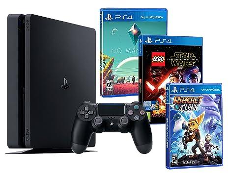 Playstation 4 Konsole PS4 Slim 500Gb Kindheitpack! LEGO Star Wars: Das Erwachen der Macht + Ratchet & Clank + No Man