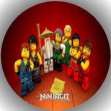 Ll Lego Ninjago Fondant Tarta Tarta Diseno De Tarta De Cumpleanos