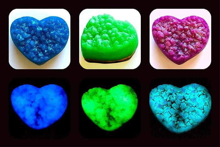 Amazon Com Glowing Heart Gem Geode Crystal Gemstone Rock