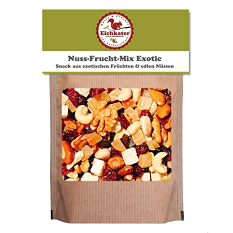 9a57f14a9397ff Eichkater Nuss-Frucht-Mix Exotic 1er-Pack (1x500g)  Amazon.de ...