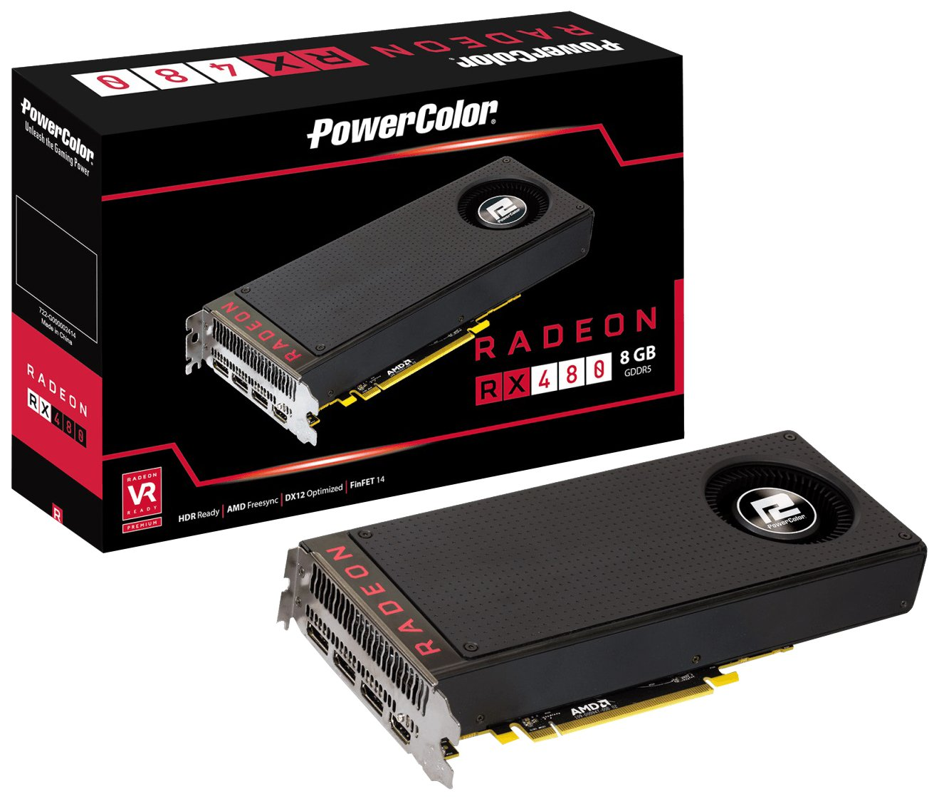 PowerColor AXRX 480 8GBD5-M3DH - Placa Grafica AMD Radeon RX ...