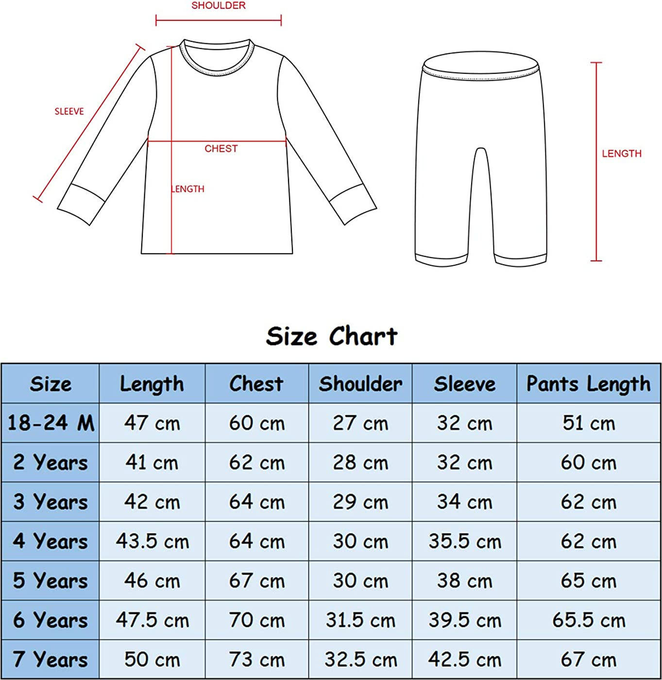 MOMBEBE COSLAND Boys Cotton Pyjamas Set Kids Long Sleeve Pjs Sleepwear 1 to 10 Years