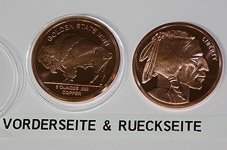 Amazonde Neu Große Kupfer Münze Bison 5 Troy Unze Aus