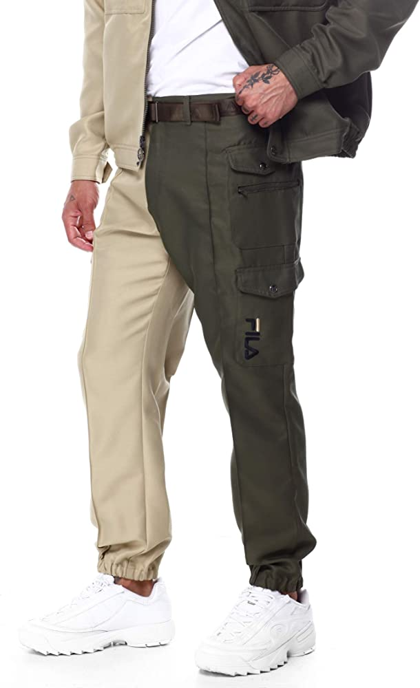 Fila Men's Pan Pant Kalamata/Olive Grey