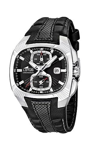 Lotus 15753/2 - Reloj analógico de Cuarzo para Hombre, Correa de Cuero Color Negro (cronómetro): Lotus: Amazon.es: Relojes