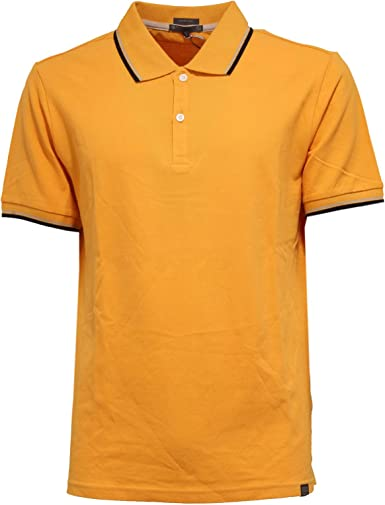 Geox 8169K Polo Uomo Slim Fit Yellow Garment Dyed Polo t