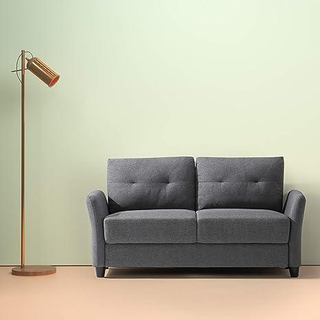 Amazon Com Zinus Ricardo Contemporary Upholstered 62 2 Inch Sofa