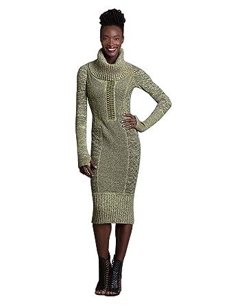 Byron Lars Kapok Knit Removeable Cowl Sweater Dress (8)