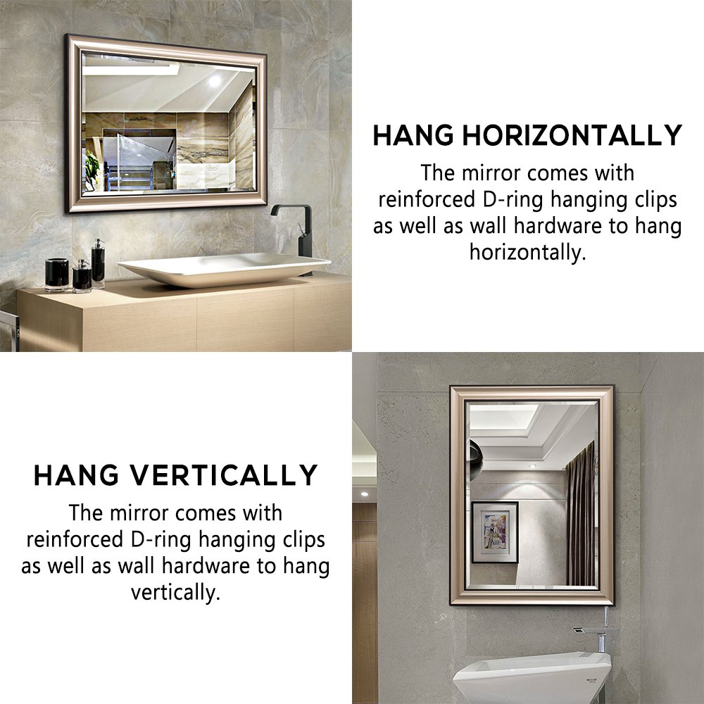 Amazon.com: LINSGROUP Vanity Bathroom Home/Office Modern Champagne ...