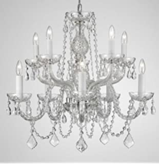 Amazon.com: Chandelier Lighting Crystal Chandeliers H27\