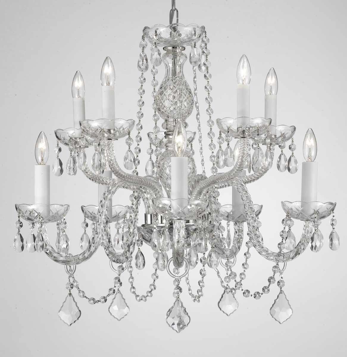 Chandelier lighting crystal chandeliers h25 x w24 10 lights chandelier lighting crystal chandeliers h25 x w24 10 lights amazon arubaitofo Gallery