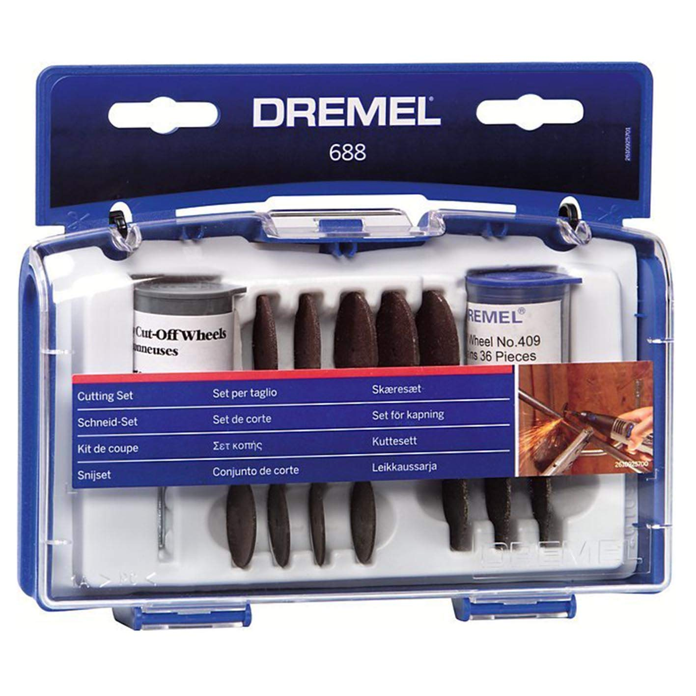Dremel 688-01 69-Piece Rotary Tool Accessory Cutting Disc Kit