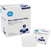 "Medpride Sterile Non-Adherent Pads| 100-Pack, 3"" x 4""