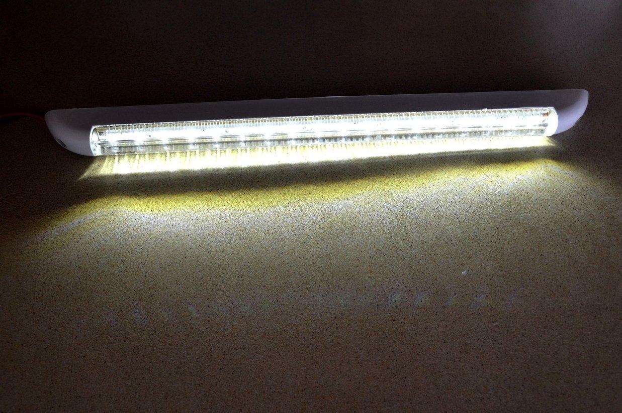 18/LED 12/V Innen Lampe 400/mm f/ür Caravan Auto Van Bus Caravan SUV Truck On//Off Schalter