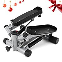 ANCHEER Swing Stepper Including Resistance Cords/Aerobic Step Height Adjustable Level