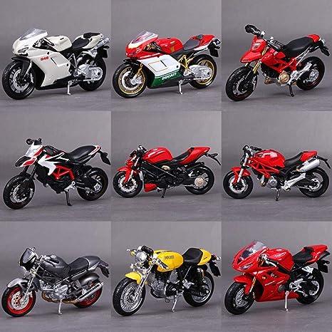 Parluna Juguete de simulaci/ón de Motocicleta para ni/ños peque/ños Modelo de Motocicleta de aleaci/ón de Coche de Motocicleta de Efecto de Sonido Ligero Yellow