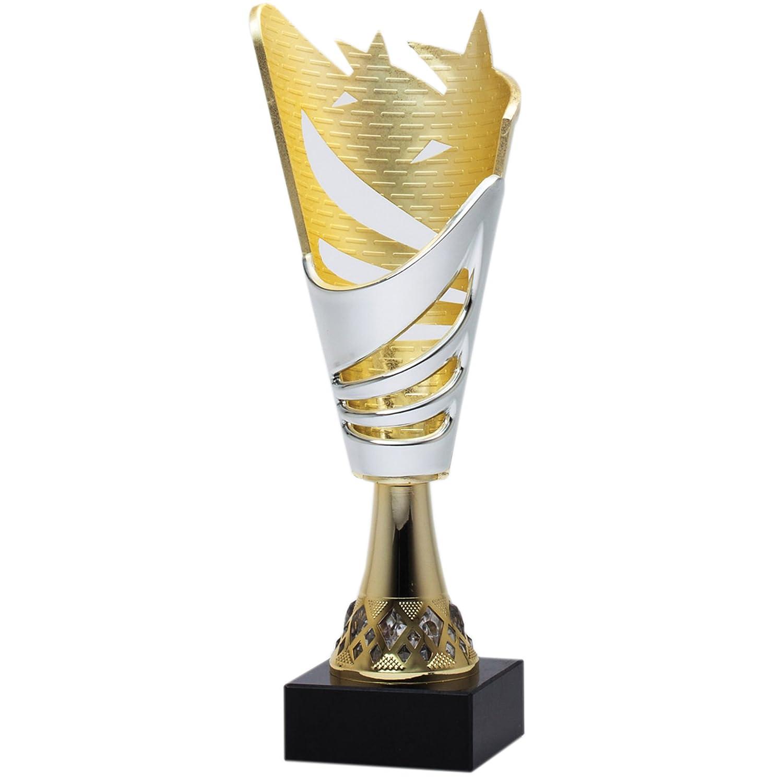 シルバー&ゴールド星ワールドカップトロフィー – 完璧なTournament & Competition Awards Trophy – カスタマイズNow – Personalized Engraved Plate Included & Attached to award – Decade Awards B0769YJXD3
