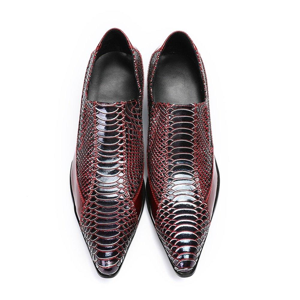 CAI Männer Spitzen Neuheit Lederschuhe 2018 Frühling Herbst    Herbst Winter Komfort Oxfords für Party & Abend Herren Formelle Schuhe (Farbe   Rot, Größe   37) 0dca54