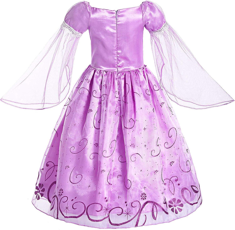 Amazon.com: ReliBeauty Disfraz de princesa de manga de malla ...