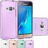 J1 2016 Case, Galaxy Amp 2 Case, Galaxy Express 3 Case, OEAGO Premium Ultra Slim Thin Clear Flexible Soft TPU Gel Skin Protective Cover Shell for Samsung Galaxy Amp 2 / J1 (2016) / Express 3 - Purple