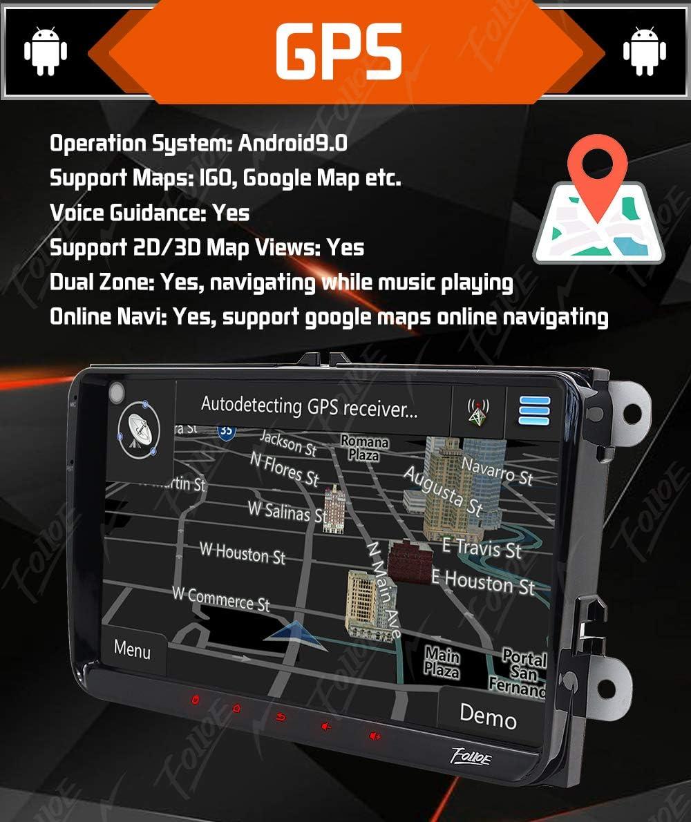 Amazon.com: FoIIoE - Radio de coche para VW SEAT Skoda Jetta ...