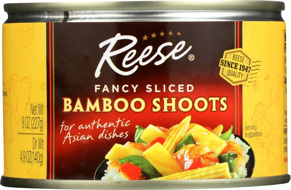 Reese Sliced Bamboo Shoots, 8-Ounces (Pack of 12) by Reese