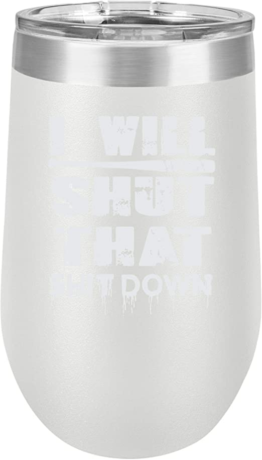Funny White Claw 12 oz Spill Proof Dishwasher Safe Stainless Steel Wine Tumbler
