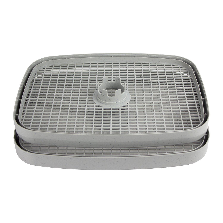 CHARD 5DST-2 Food Dehydrator Tray, Gray - Set of 2