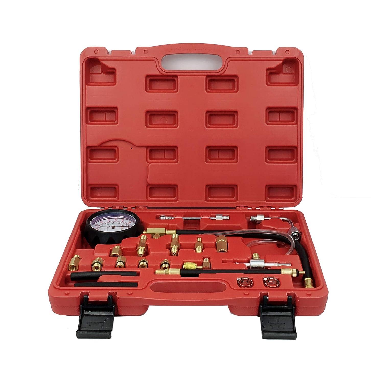 ThreeH Benzindrucktester Set Einspritzanlage Benzindruck-Pr/üfer Set Druckpr/üfer Auto PKW Kraftstoffdruckmesser MA03