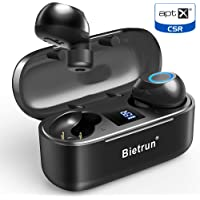 Bietrun Bluetooth 5.0 True Wireless Earbuds with 30H Playtime, No Delay Stereo Sound,IPX7 Waterproof and Built-in Mic