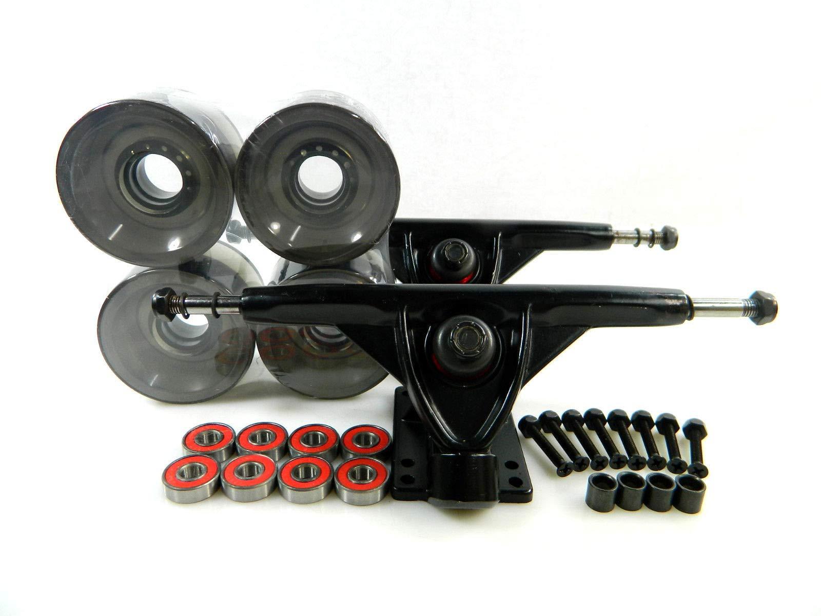 Good Skateboard Clear Smoke Blank 180Mm Reverse Longboard Trucks + Blank 70Mm Pro Clear Color Wheels