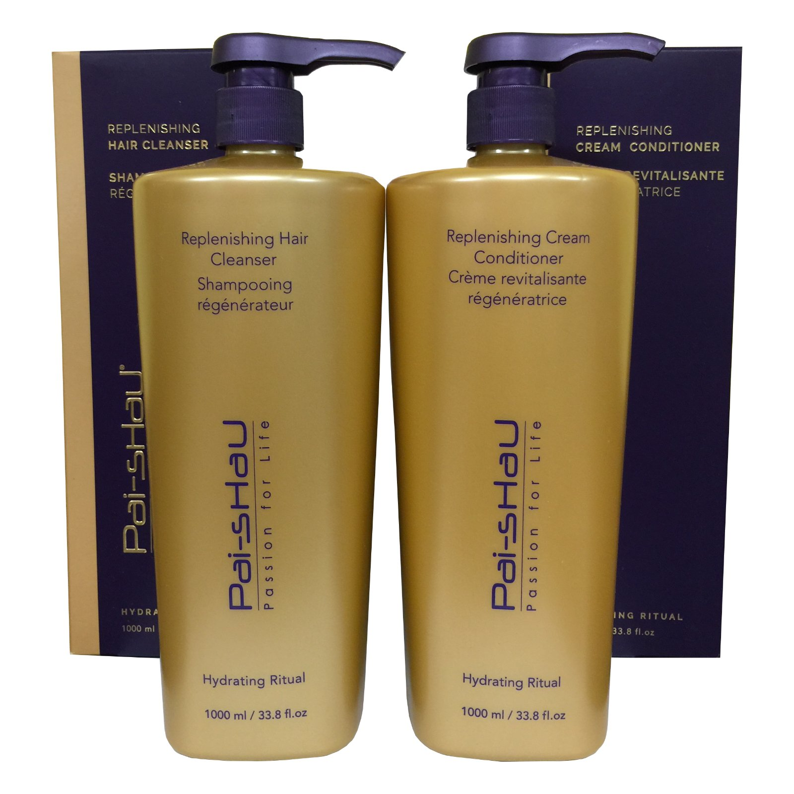 Pai Shau Replenishing Hair Cleanser & Cream Conditioner Liter DUO