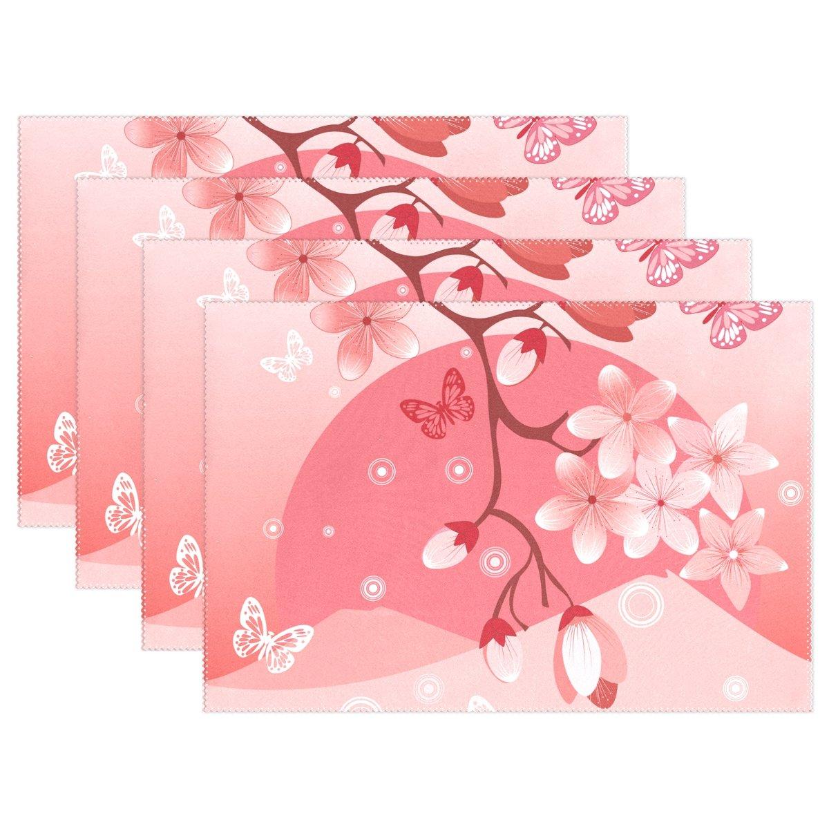 Japanese Sakura桜プレースマットテーブルマット、12