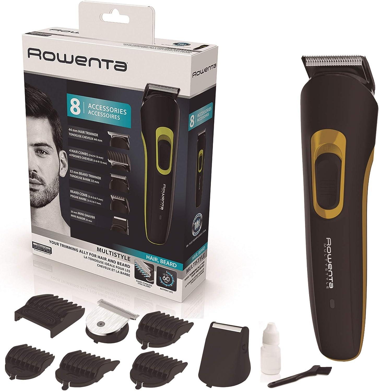 Rowenta Multistyler 8 en 1 Basic TN8940 - Cortapelos y barbero profesional con 60 min de autonomía, 8 accesorios de corte y fácil limpieza