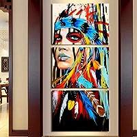 Pittura a olio misteriosa della celebrità della minoranza tela donna Painting Home Wall Decorazioni3pc/set