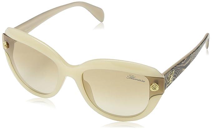 Blumarine SBM624-gafas de sol Mujer Marrón Marrón (SHINY ...