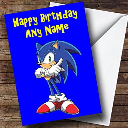 De personalizado de tu propio Sonic The Hedgehog azul ...