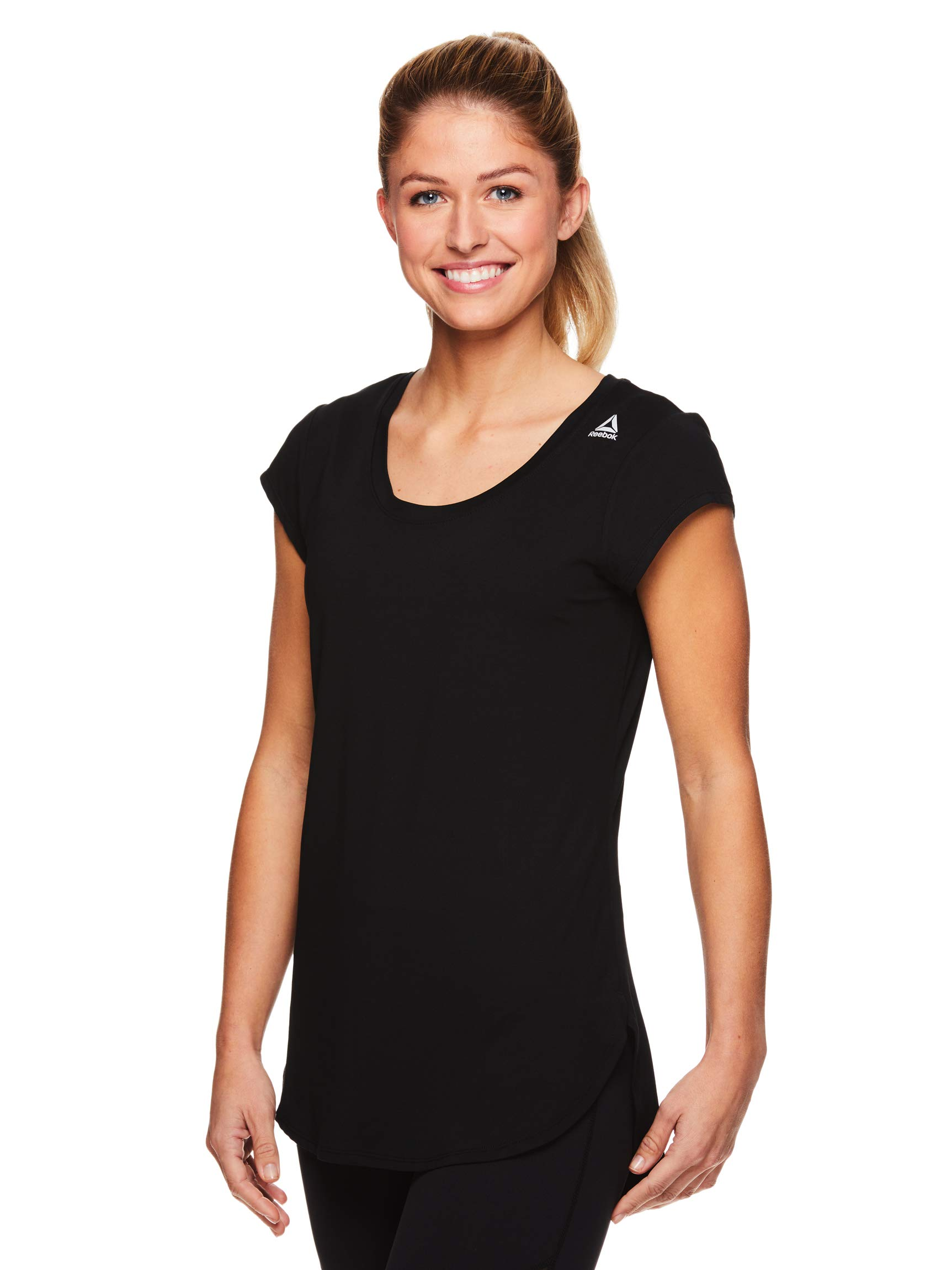 Reebok Women's Legend Performance Short Sleeve T-Shirt with Polyspan Fabric - Black Black, Small by Reebok