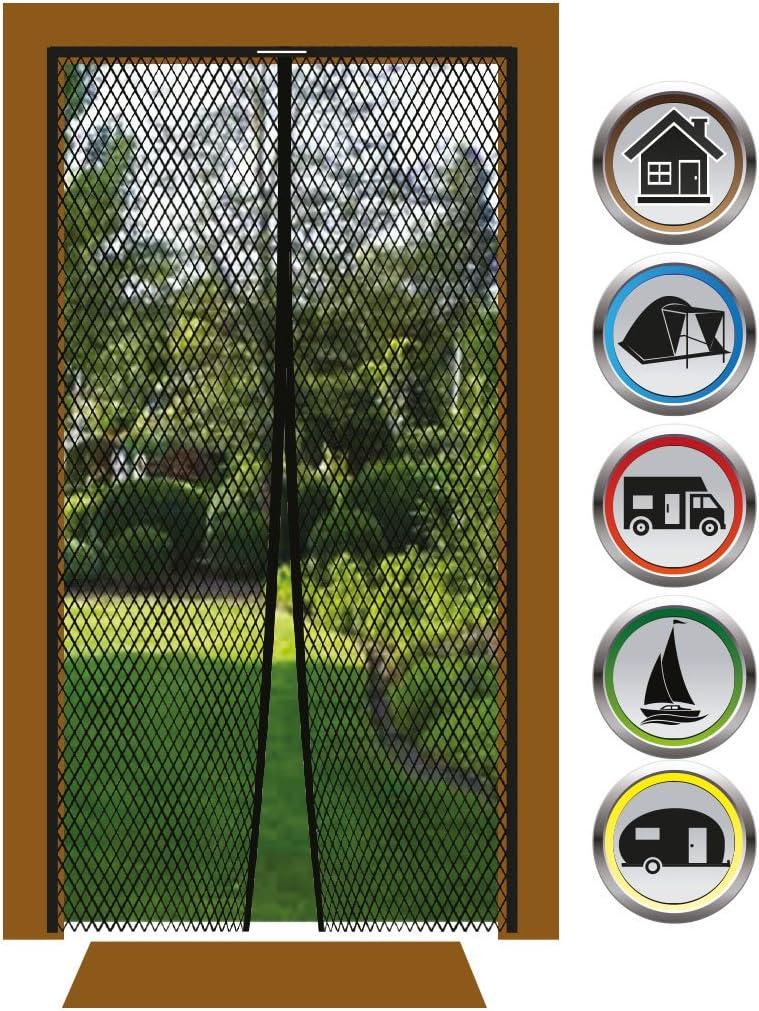 Auswahl 100x210cm Bestlivings Insektenschutz Magnetvorhang Fliegengitter f/ür T/üren in L/änge und Breite individuell k/ürzbar
