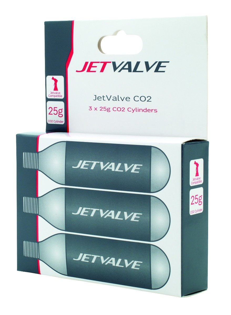 Jetvalve 25g CO2refill Cyclinders (X3)