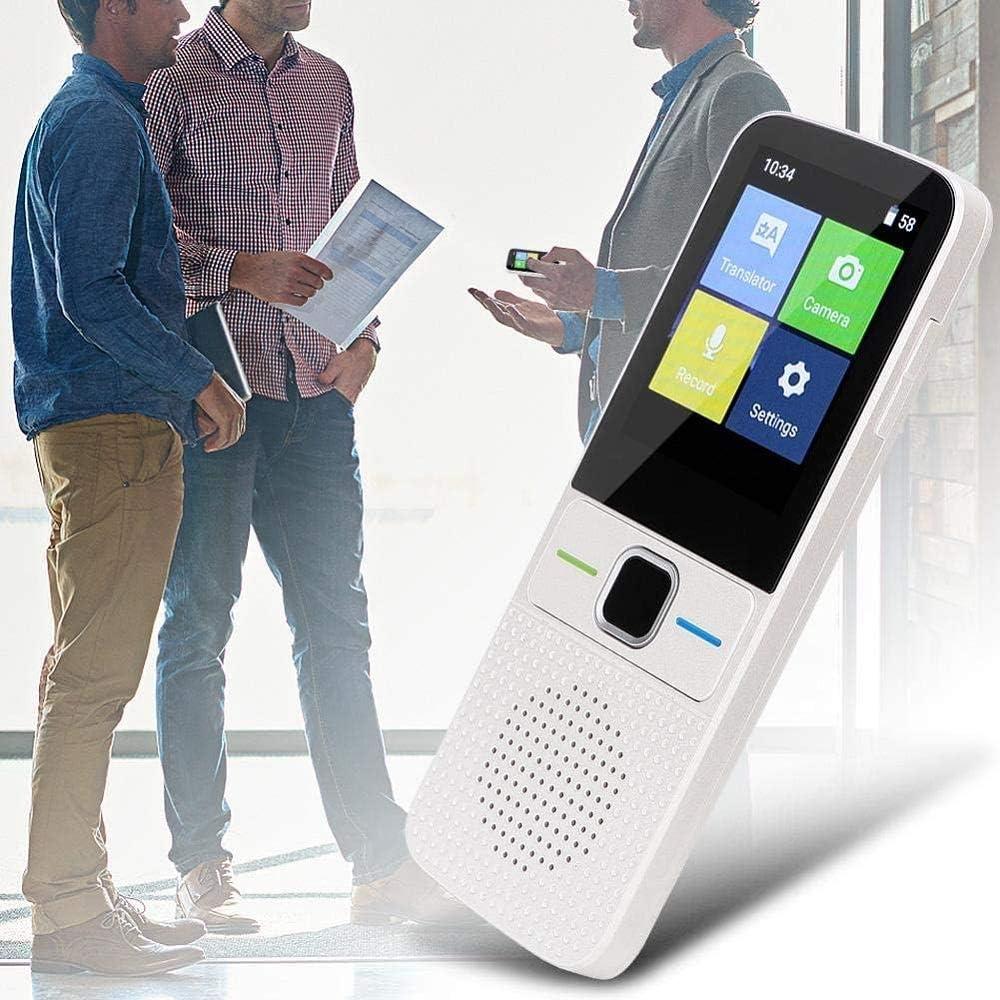 Garsent Smart Sprach/übersetzer Wei/ß 1500 mAh Portable Voice Translator mit 2,4 Zoll Screen Unterst/ützung 51 Sprachen 47 Dialekterkennung f/ür Reisen Lernen Einkaufen