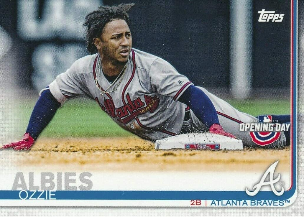 Amazon.com: 2019 Topps Opening Day - Ozzie Albies - Atlanta Braves Baseball  Card #98: Collectibles & Fine Art