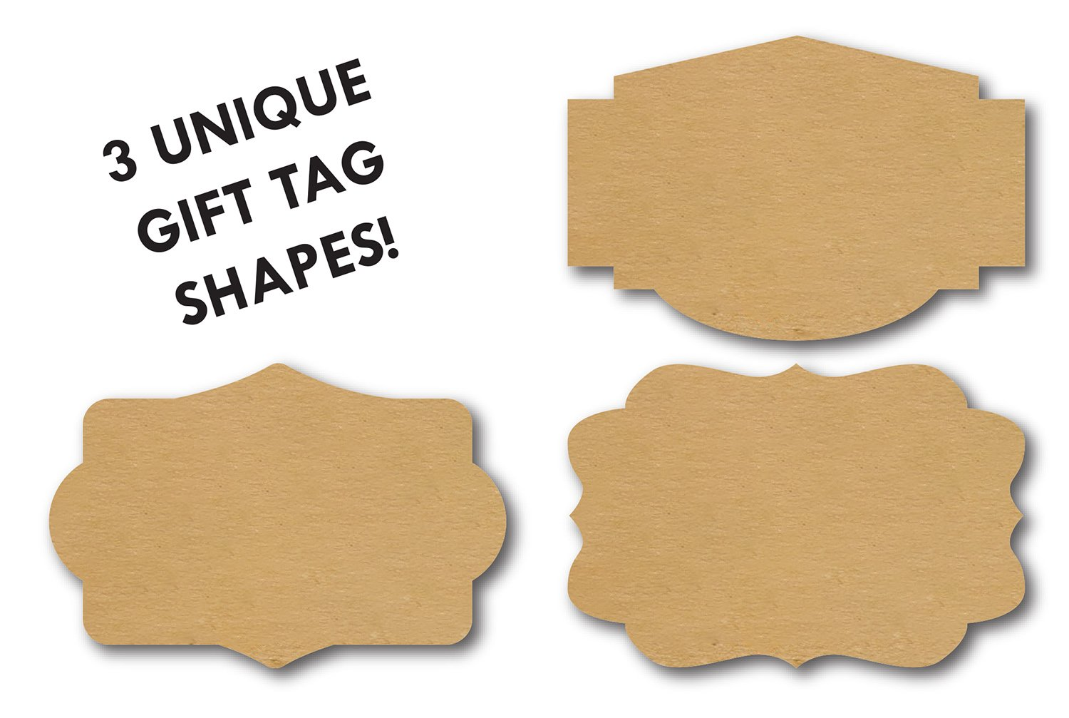 Natural Brown Kraft Holiday Gift Tag/2'' x 3'' Present Stickers/100 Christmas Gift Tags by SBlabels (Image #6)