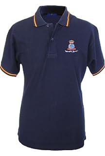 Pi2010 – Polo Ejército del Aire para Hombre, Color Azul Marino, Bandera España en Cuello y Mangas, 100% algodón: Amazon.es: Ropa y accesorios
