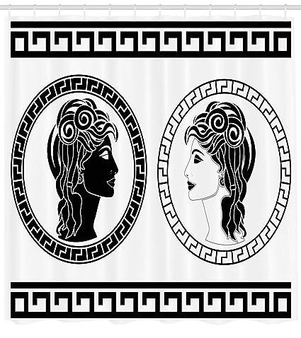 1499d83adcad Amazon.com: Ambesonne Toga Party Shower Curtain, Roman Aristocrat ...