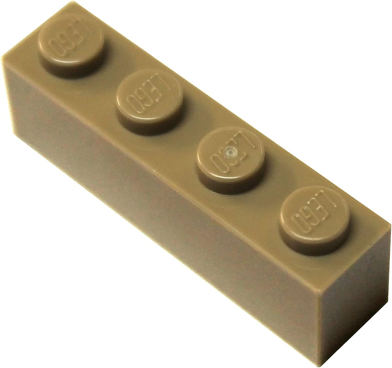 LEGO Parts and Pieces: Dark Tan (Sand Yellow) 1x4 Brick x100