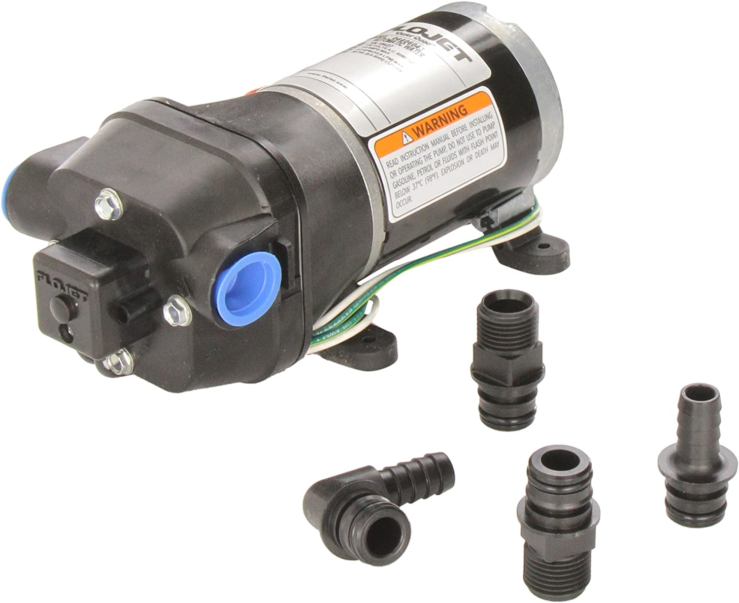 Fittings Replace Flojet High Pressure Water Pump 12 V DC  40 PSI 4.5 GPM 1//2 in