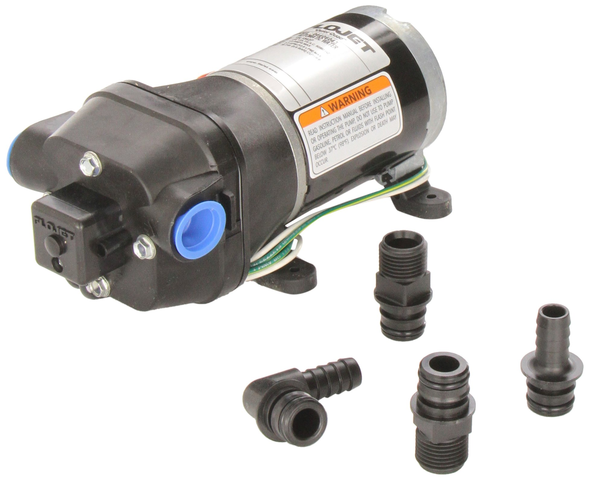 Flojet 04406043A 3.3 GPM 35 PSI 115V Quiet Quad Water Pump System by Flojet Corporation